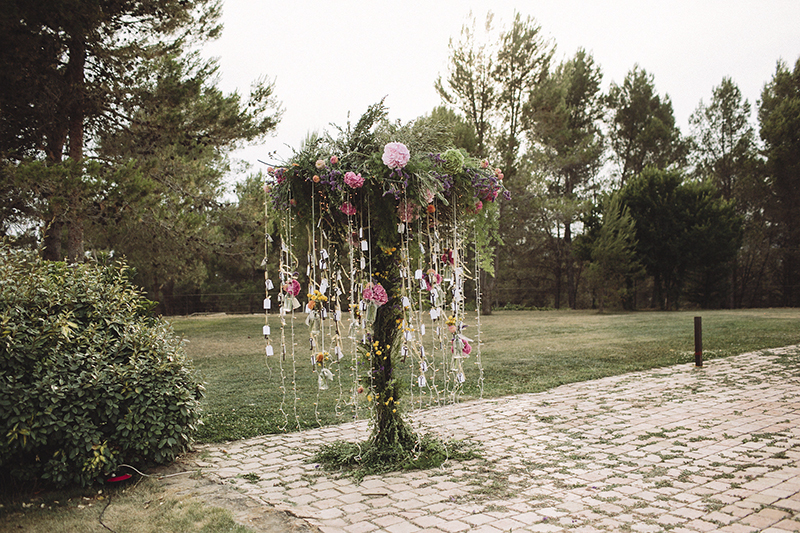 arbol guirnaldas luz www.bodasdecuento.com