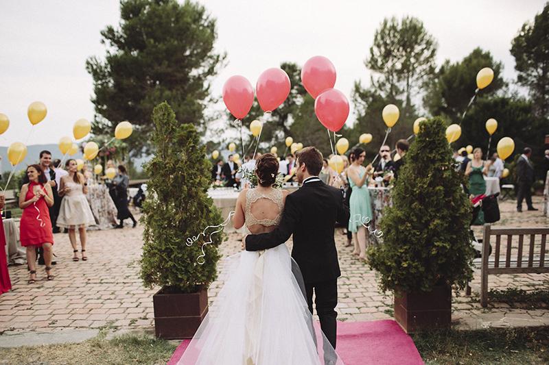 lanzamiento globos boda www.bodasdecuento.com
