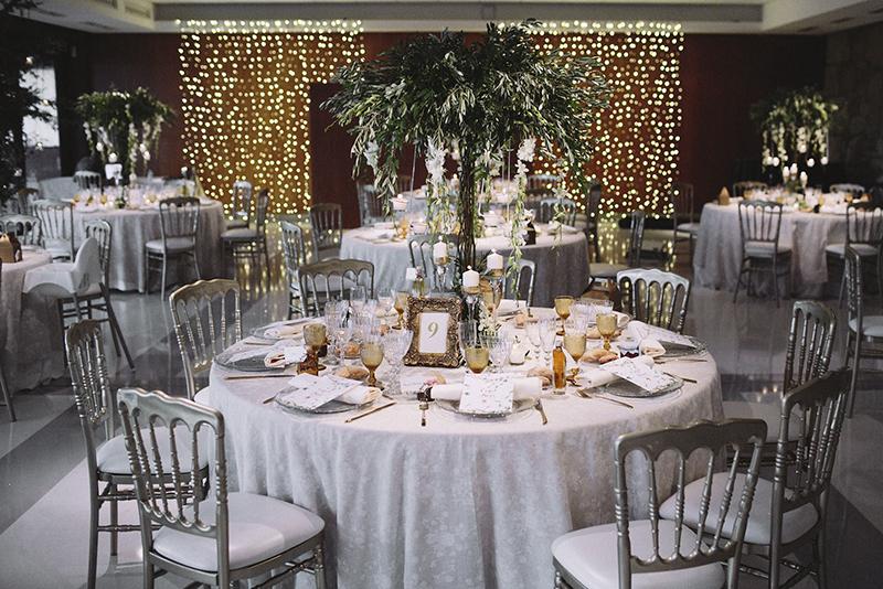 decoración salón boda www.bodasdecuento.com