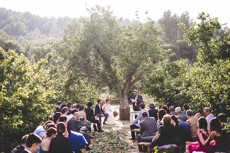 ceremonia boda al aire libre www.bodasdecuento.com