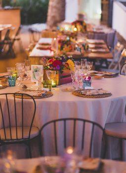 decoración mesas banquete www.bodasdecuento.com