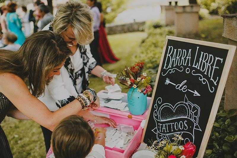 tatuajes temporales bodas