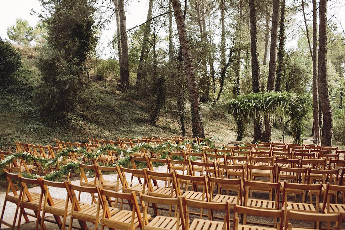 ceremonia boda bosque www.bodasdecuento.com