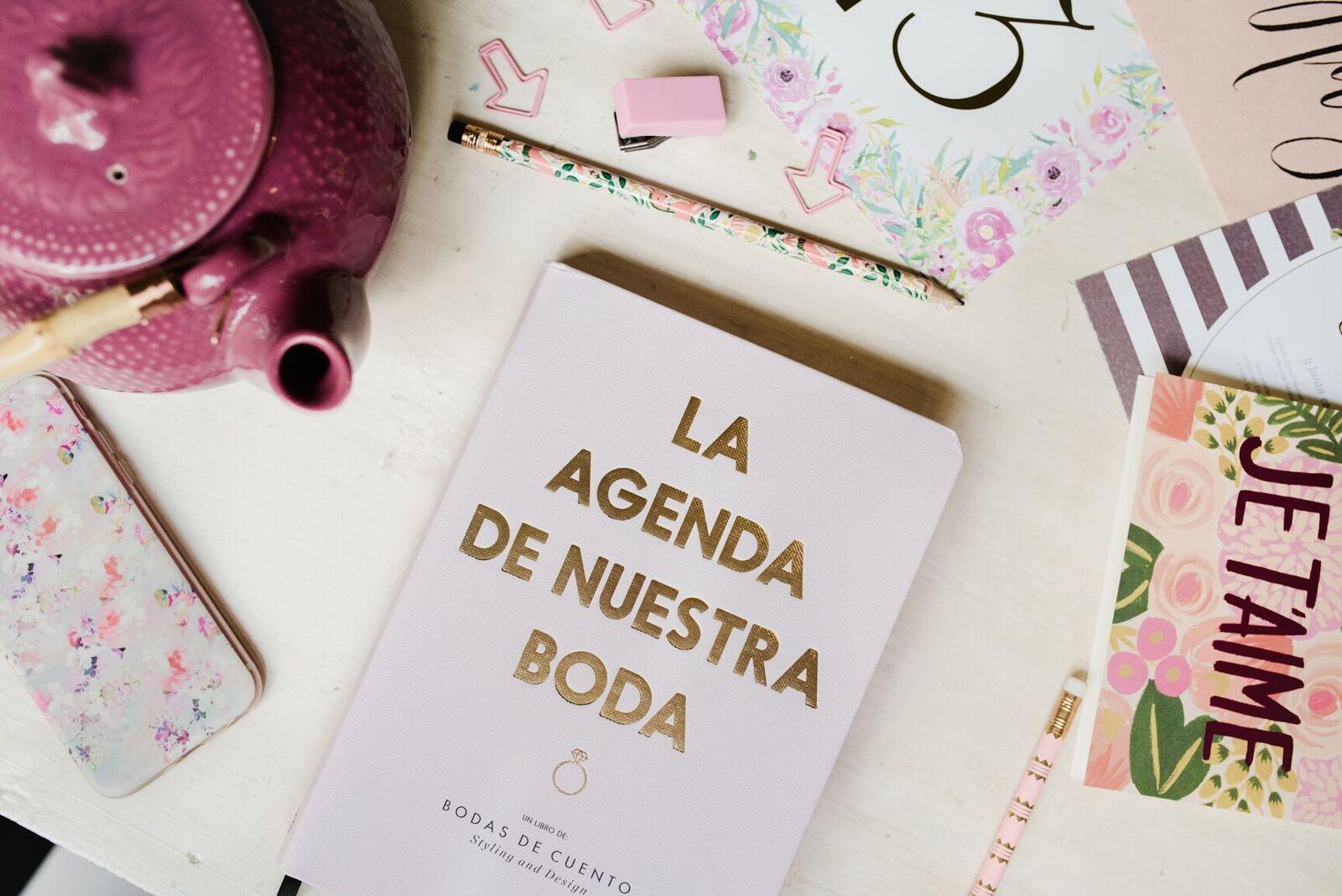 La agenda perfecta para tu boda agenda boda - Cosas para preparar una boda ...