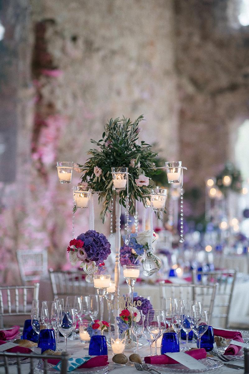 centros mesa altos boda www.bodasdecuento.com