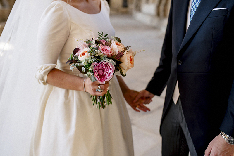 ramo de novia romantico www.bodasdecuento.com