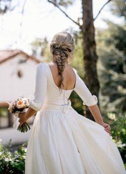 vestido novia cristina tamborero www.bodasdecuento.com