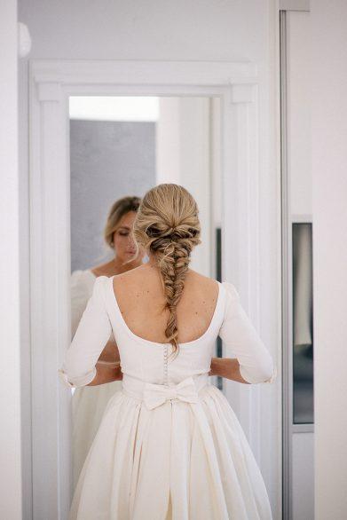 trenza espiga novia www.bodasdecuento.com