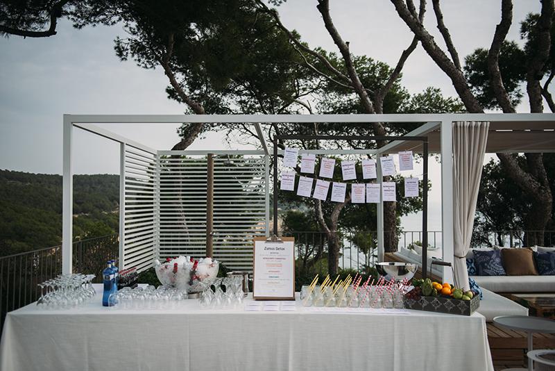 buffet de zumos naturales boda