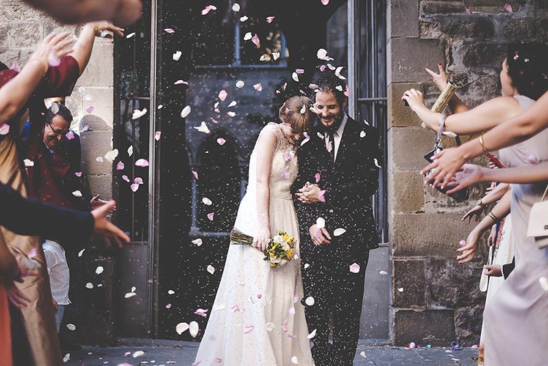pétalos ceremonia boda www.bodasdedcuento.com