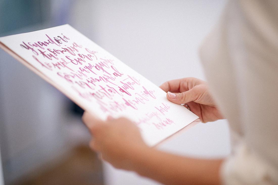 carta lettering novia www.bodasdecuento.com