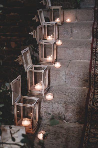 decoración ceremonia boda velas www.bodasdecuento.com