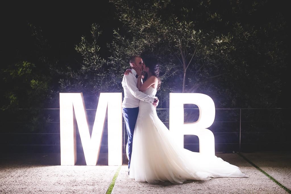 letras luminosas boda www.bodasdecuento.com