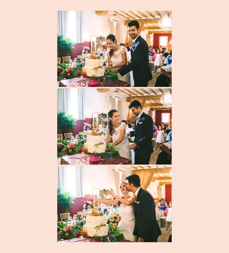novios cortando la tarta www.bodasdecuento.com