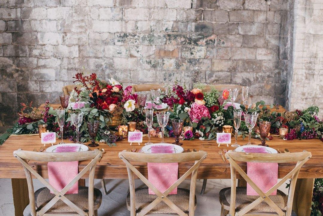 decoración boda industrial www.bodasdecuento.com