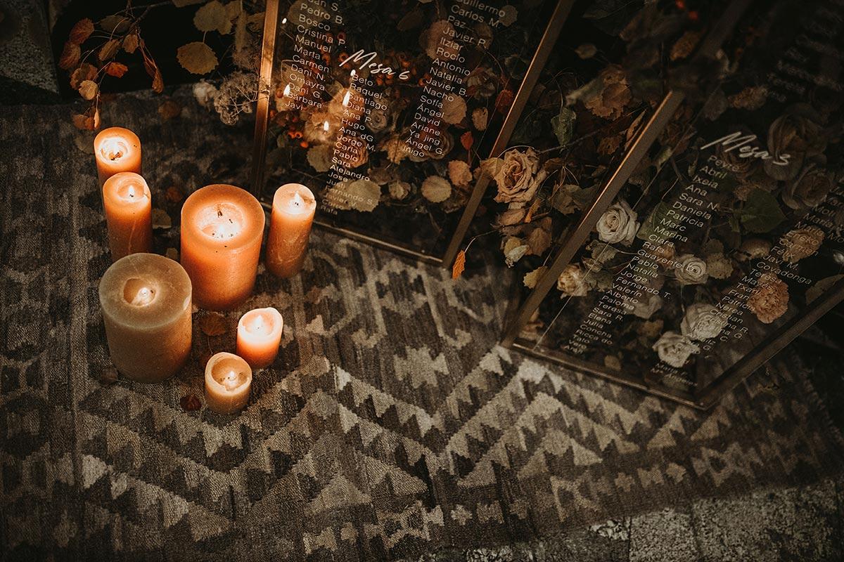 Deco boda de invierno rustica chic alfombra y velas boda de invierno Bodas de Cuento